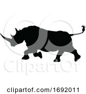 Rhino Animal Silhouette