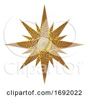 Golden Star Abstract Illustration