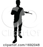 Poster, Art Print Of Soldier Detailed High Quality Silhouette