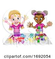 Poster, Art Print Of Girls Playing