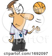 Cartoon Basketball Referee