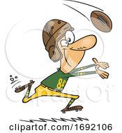 Cartoon Vintage Football Player