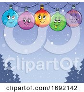 Christmas Bauble Ornament Background by visekart