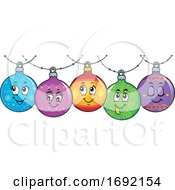 Christmas Bauble Ornament Border