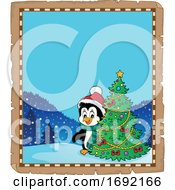 Christmas Penguin Border