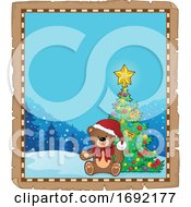 Christmas Teddy Bear Border