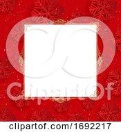 Red Snowflake Menu Border Or Christmas Background