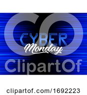 Poster, Art Print Of Modern Background Design For Cyber Monday
