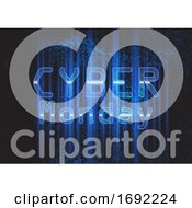 Poster, Art Print Of Techno Modern Cyber Monday Background