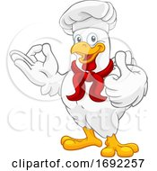 Poster, Art Print Of Chicken Chef Rooster Cockerel Perfect Cartoon