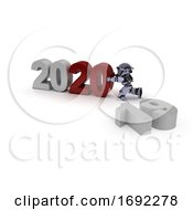 Poster, Art Print Of Robot Bringing In The New Year