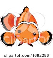 Cute Happy Clownfish