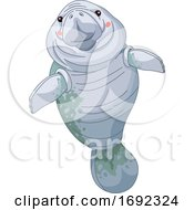 Cute Happy Manatee