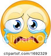 Poster, Art Print Of Yellow Smiley Emoji Crying