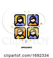 Icon Of Applicants Photos For Professional Staff Recruitment Concept