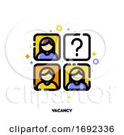 Icon Of Employees Photos For Vacancy Or Professional Staff Recruitment Concept