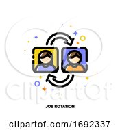 Poster, Art Print Of Job Rotation Icon For Human Resources Management Concept