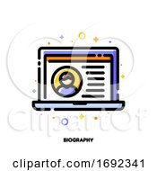 Poster, Art Print Of Icon Of Job Application Form With Profile Photo For Professional Staff Recruitment Or Job Search Concept