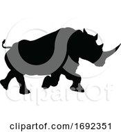 Poster, Art Print Of Rhino Animal Silhouette
