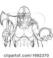 Viking Trojan Celtic Knight Cricket Warrior Woman