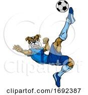 Bulldog Soccer Football Player Sports Mascot