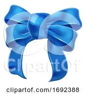 Blue Ribbon Gift Bow