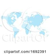 Dots Circles Flat Map World Background