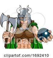 Viking Female Gladiator Bowling Warrior Woman