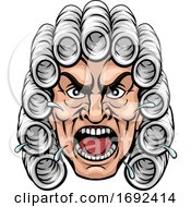 Angry Judge Cartoon Character