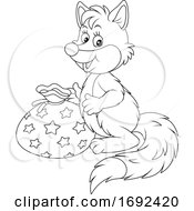 Cute Fox With A Gift
