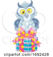 Cute Owl With A Gift