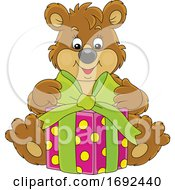 Cute Bear With A Gift