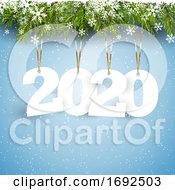 Happy New Year Background With Hanging Letters
