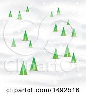 Minimal Christmas Tree Landscape Background