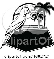 Parrot And Tropical Sign