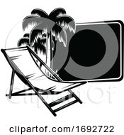 Beach Chair And Palm Trees