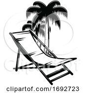 Beach Chair And Palm Trees