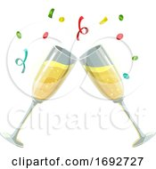 Poster, Art Print Of Clinking Champange Glasses