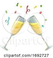 Clinking Champange Glasses