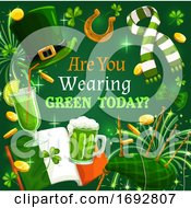 St Patrick Day Shamrock Green Beer Ireland Flag