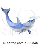 3d Dolphin On A White Background by Julos