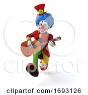 Poster, Art Print Of Fun Clown - 3d Illustration