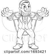 Dracula Halloween Vampire Monster Cartoon