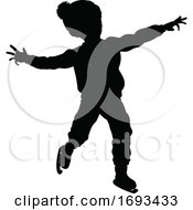 Poster, Art Print Of Silhouette Child Ice Skating Christmas Clothing
