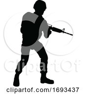 Poster, Art Print Of Soldier Silhouette