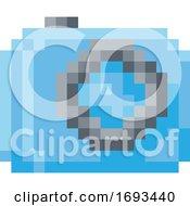 Poster, Art Print Of Camera Photos Pixel 8 Bit Video Game Art Icon