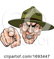 Poster, Art Print Of Army Bootcamp Drill Sergeant Soldier Ponting