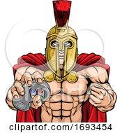 Spartan Trojan Gamer Warrior Controller Mascot