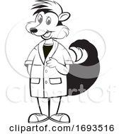 Scientist Skunk Laughing