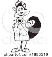 Scientist Skunk Reading A Book